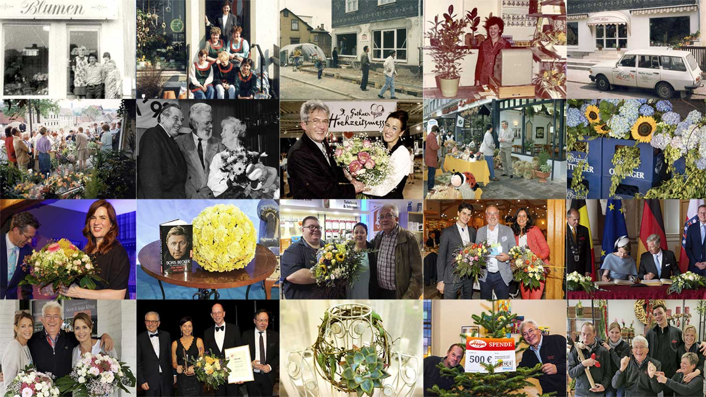 1981 bis 2021: Fotos aus 40 Jahren Blumen Heyn.